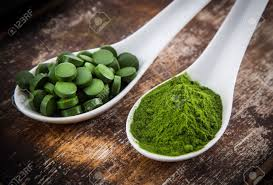 spirulina chlorela zelený ječmen